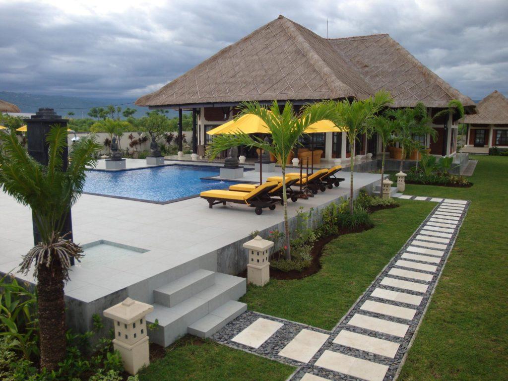 villa met groot zwembad huren op Bali