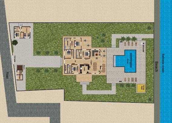 Platte grond Villa Pelangi