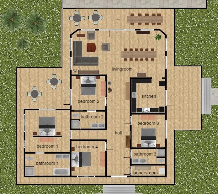 Villa pelangi indeling kamers