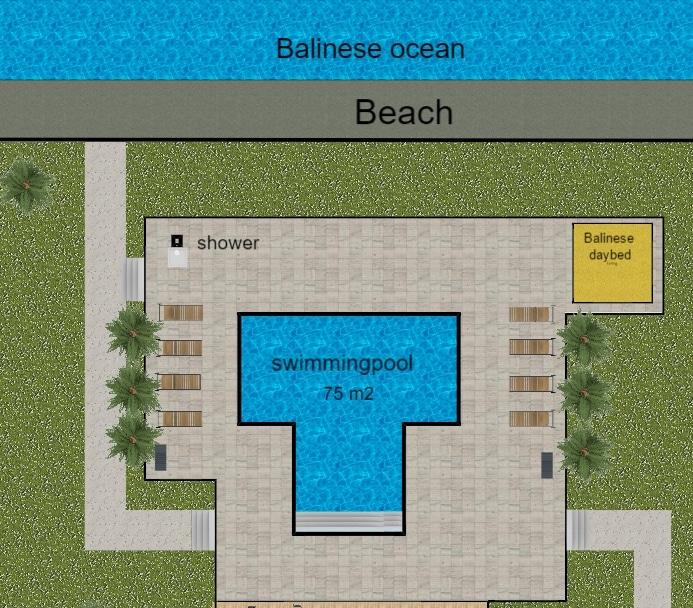 Zwembad villa op Bali