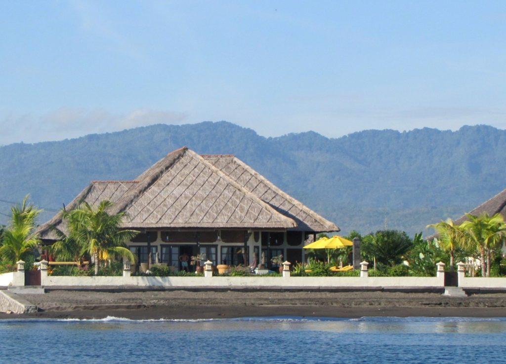 Villas aan zee op Bali