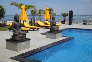 Villa with staff on Bali