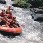 Raften op woeste rivieren op Bali