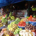 Lokale groente en fruitmarkt Bali