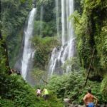 Spectaculaire waterval op Bali
