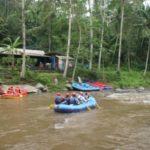 eindpunt raftlokatie Ayung river Bali