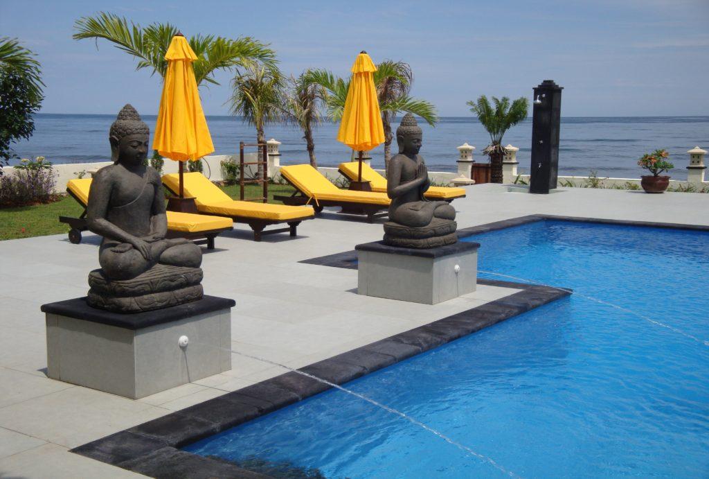 Villa met uitzicht op zee op Bali huren