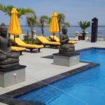Villa met uitzicht op zee op Bali