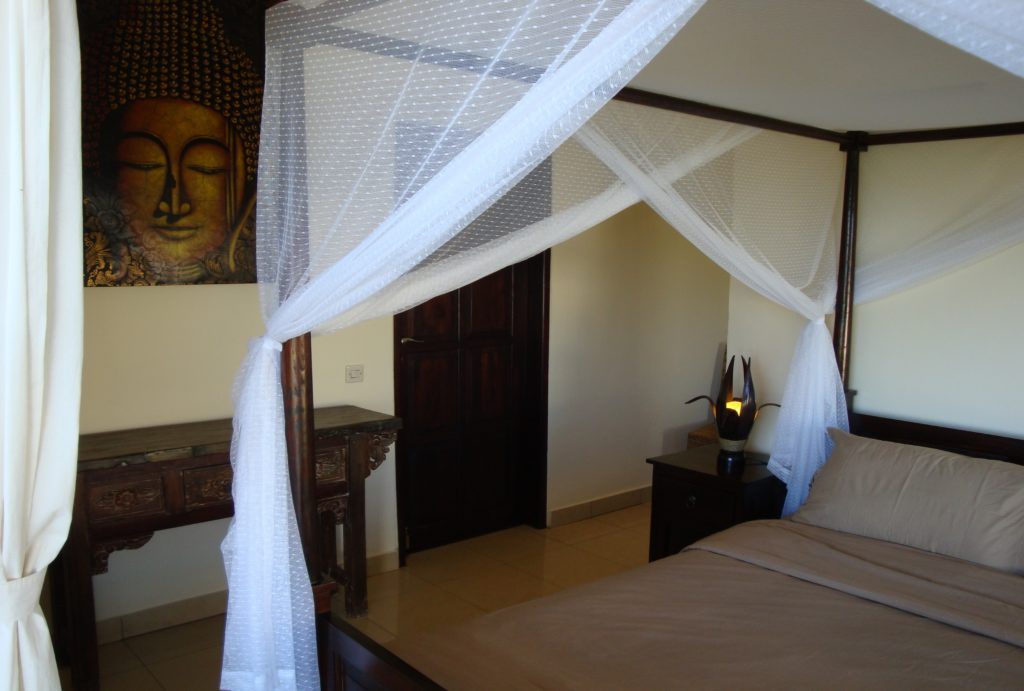 luxe slaapkamer op Bali